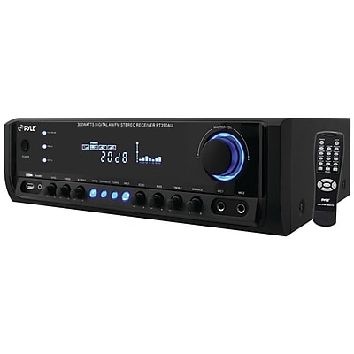 Pyle® Digital Home Stereo Receiver System With USB/SD Memory Readers, 300 W