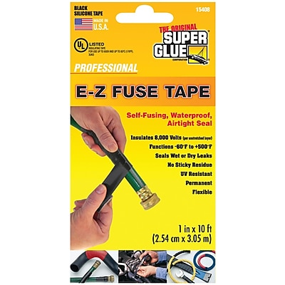Super Glue 10' E-Z Fuse Tape, Black, (SGC1540812)