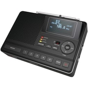 Sangean® CL-100 Deluxe Tabletop AM/FM Alarm Clock Radio With S.A.M.E. Weather Alert