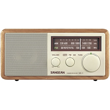 Sangean – Récepteur radio de table analogique FM/AM en bois WR11 (SNGWR11)