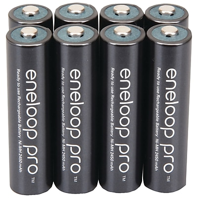 Panasonic Eneloop pro™ Ni-MH AAA Rechargeable Batteries, 8/Pack