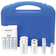 Panasonic 4-Position Charger Kit With Eneloop® AAA/AA/C/D Batteries