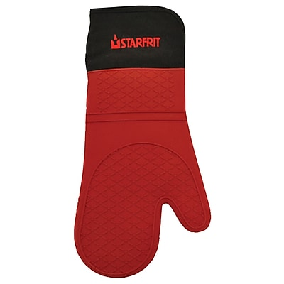 Starfrit Silicone Oven Glove With Cotton Liner, Red