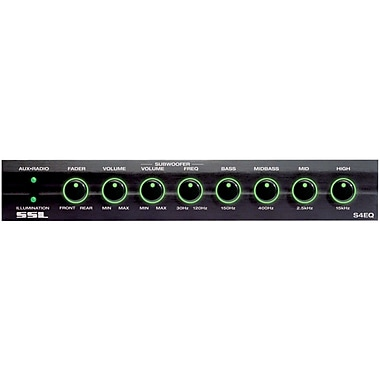SSL 4 Band Pre-Amplifier Equalizer With Remote Subwoofer Control