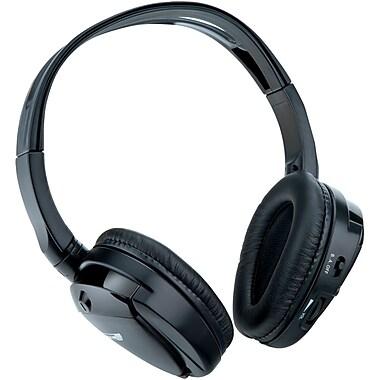 SSL – Casque d'écoute supra-auriculaire sans fil pliable à 2 canaux IR, noir (SSLSHP32)