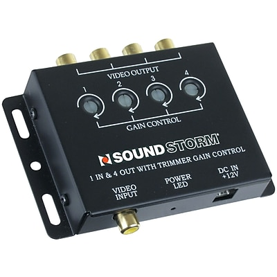 Sound Storm Video Signal Amplifier With 1 Input/4 Output