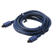 STEREN® 12' Fiber Optical Digital Audio Cable, Blue