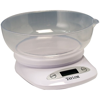 Taylor 4.4 lbs Digital Kitchen Scale With Bowl (TAP3804)