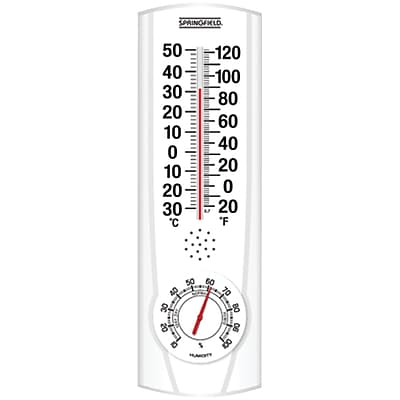 Springfield® Plainview Indoor/Outdoor Thermometer With Hygrometer