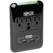 Tripp Lite Protect It! Surge Protector With 2 USB Ports, 3 Outlet, Black (TRPSK30USB)