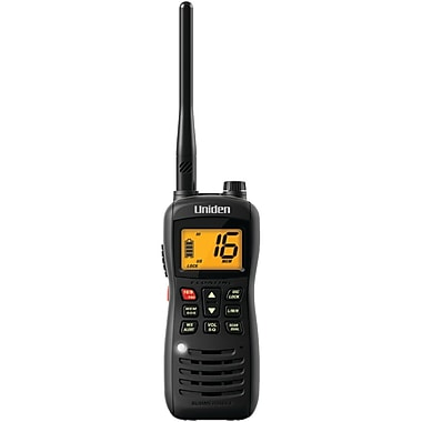 Uniden® MHS126 Submersible Handheld 2-Way VHF Marine Radio, 1 W