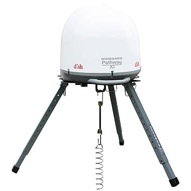 Winegard® Pathway™ X1 Automatic Portable Satellite TV Antenna With DISH Receiver, White