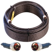 Wilson Electronics® WILSON400 Ultra-Low-Loss Coaxial Cable With N-Male Connectors, 100', Black