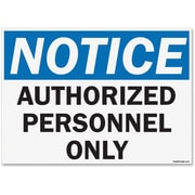 "U.S. Stamp & Sign OSHA Notice ""Authorized Personnel Only"" Sign"