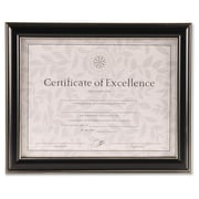 "Burns Group Office Solutions 2-Way Certificate Frame, 8.5"" x 11, Black"