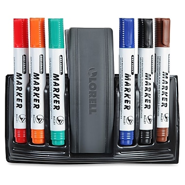 Lorell® Dry-Erase Marker Station, Assorted Colours, 7/Pack