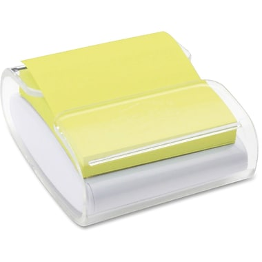 3MMC Post-it – Distributeur de feuillets éclair colorés super collants, 3 x 3 po, blanc