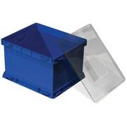 "Storex Storage Cube with Clear Lid, 13"" x 17"" x 11-1/2"", Blue"