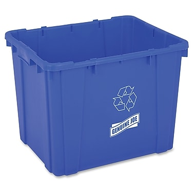 Genuine Joe 14-Gallon Curbside Recycling Bin