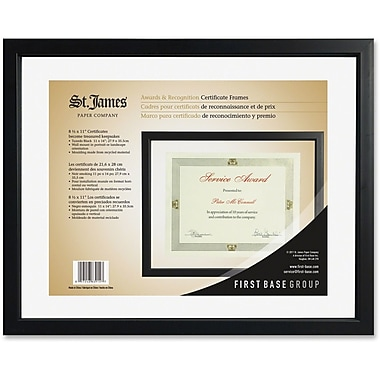 First Base Black Floating Certificate Frame