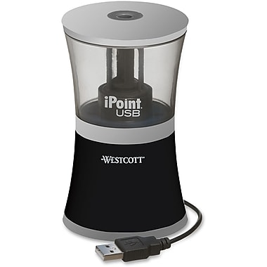 Acme Westcott iPoint USB Pencil Sharpener, Black