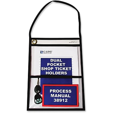 C-Line® 2-Pocket Shop Ticket Holders, 9