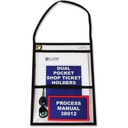"C-Line® 2-Pocket Shop Ticket Holders, 9"" x 12"", Clear, 15/Box"