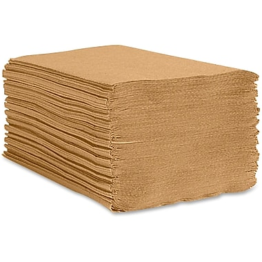 Unisource Single-Fold Paper Towel, Natural Kraft, 16/Carton