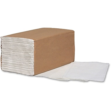 Metro Paper Single-Fold Paper Towels, White, 16/Carton