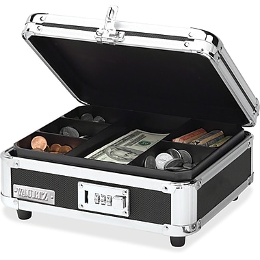 Ideastream Vaultz Combination Lock Cash Box, Black