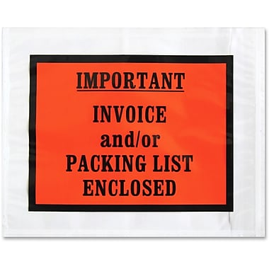 Sparco – Enveloppes préétiquetées avec impression totale, imperméables, autoadhésives, 5 1/2 x 4 1/2 po, boîte de 1000