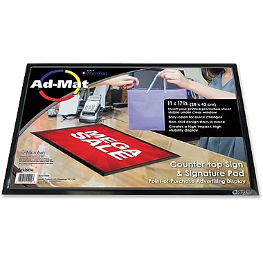 Artistic Ad-Mat Sign/Signature Pad, 11