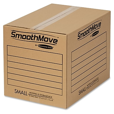 Bankers Box® SmooveMove Small Basic Moving Box, 25/Pack (FEL7713801)