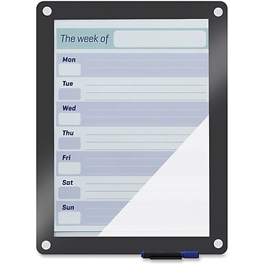 Iceberg Custom Print Glass Dry Erase Board, 18-1/2