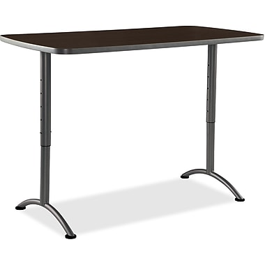 Iceberg Walnut ARC Sit-to-Stand Adj. Height Tables