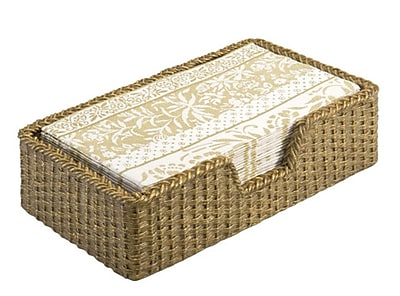 Boston International Weave Guest Towel Caddy Basket; Gold