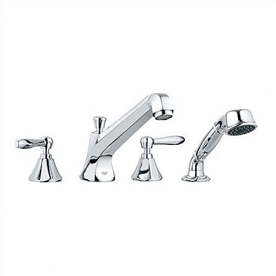Grohe Somerset Double Handle Roman Tub Faucet; Brushed Nickel
