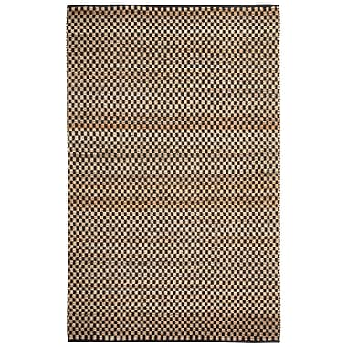 Capel Ebony Checkered Brown Area Rug; Rectangle 3' x 5'