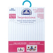 "DMC DC27R-BLEU 18"" x 14"" Impressions Needlework Fabric, Baby Blue Stripes"