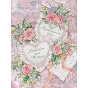 "Dimensions 3217 Multicolor 14"" x 11"" Two Hearts United Wedding Record Stamped Cross Stitch Kit"