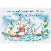 "Dimensions 6856 Multicolor 5"" x 7"" Adjusting Our Sails Mini Counted Cross Stitch Kit"