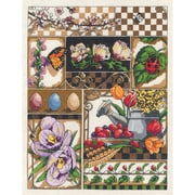 "Janlynn 17-0101 Multicolor 14"" x 11"" Spring Montage Counted Cross Stitch Kit"