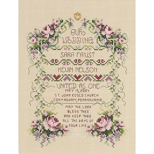 "Janlynn 80-0461 Multicolor 8.5"" x 6.25"" United As One Counted Cross Stitch Kit"