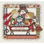 """Janlynn 80-0473 Multicolor 8.5"""" x 9"""" Families Are Forever Counted Cross Stitch Kit"""