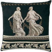 "Thea Gouverneur TG2054 Black 15.5"" x 15.5"" Grecian Cushion On Jobelan Counted Cross Stitch Kit"