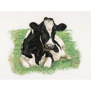 "Thea Gouverneur TG451A Multicolor 23.63"" x 17.75"" Cow On Aida Counted Cross Stitch Kit"