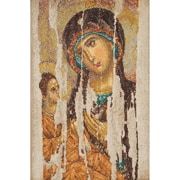 "Thea Gouverneur TG475A Multicolor 13.25"" x 8.75"" Icon Mother Of God On Aida Counted Cross Stitch Kit"