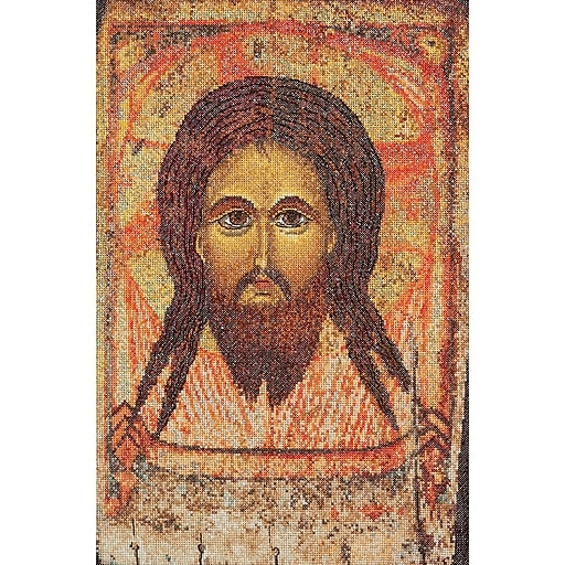 """Thea Gouverneur TG478A Multicolor 13.25"""" x 8.75"""" Icon Holy Face On Aida Counted Cross Stitch Kit"""