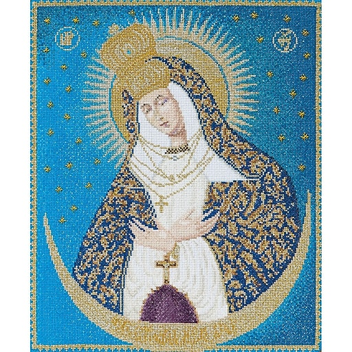"""Thea Gouverneur TG530A Multicolor 11.75""""x9.75"""" Our Lady Of The Gate On Aida Counted Cross Stitch Kit"""