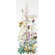 "Thea Gouverneur TG821A Multicolor 43.25"" x 17.75"" Wild Flowers On Aida Counted Cross Stitch Kit"